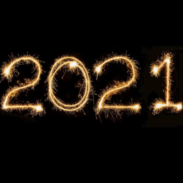 working in 2021 written in fireworks